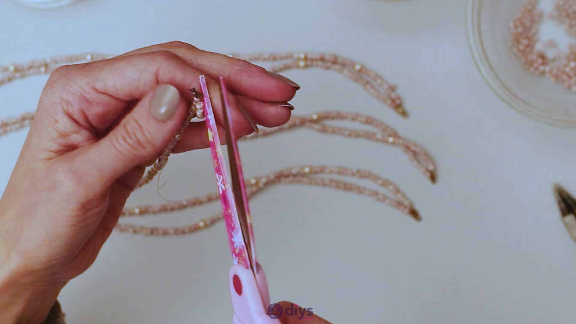 Seed bead multi strand necklace step 4i