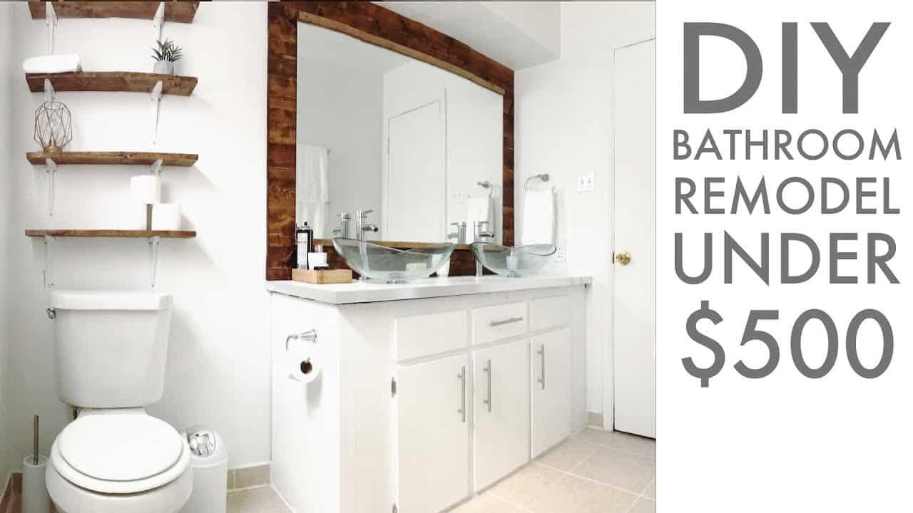 Simple diy bathroom remodel under $500