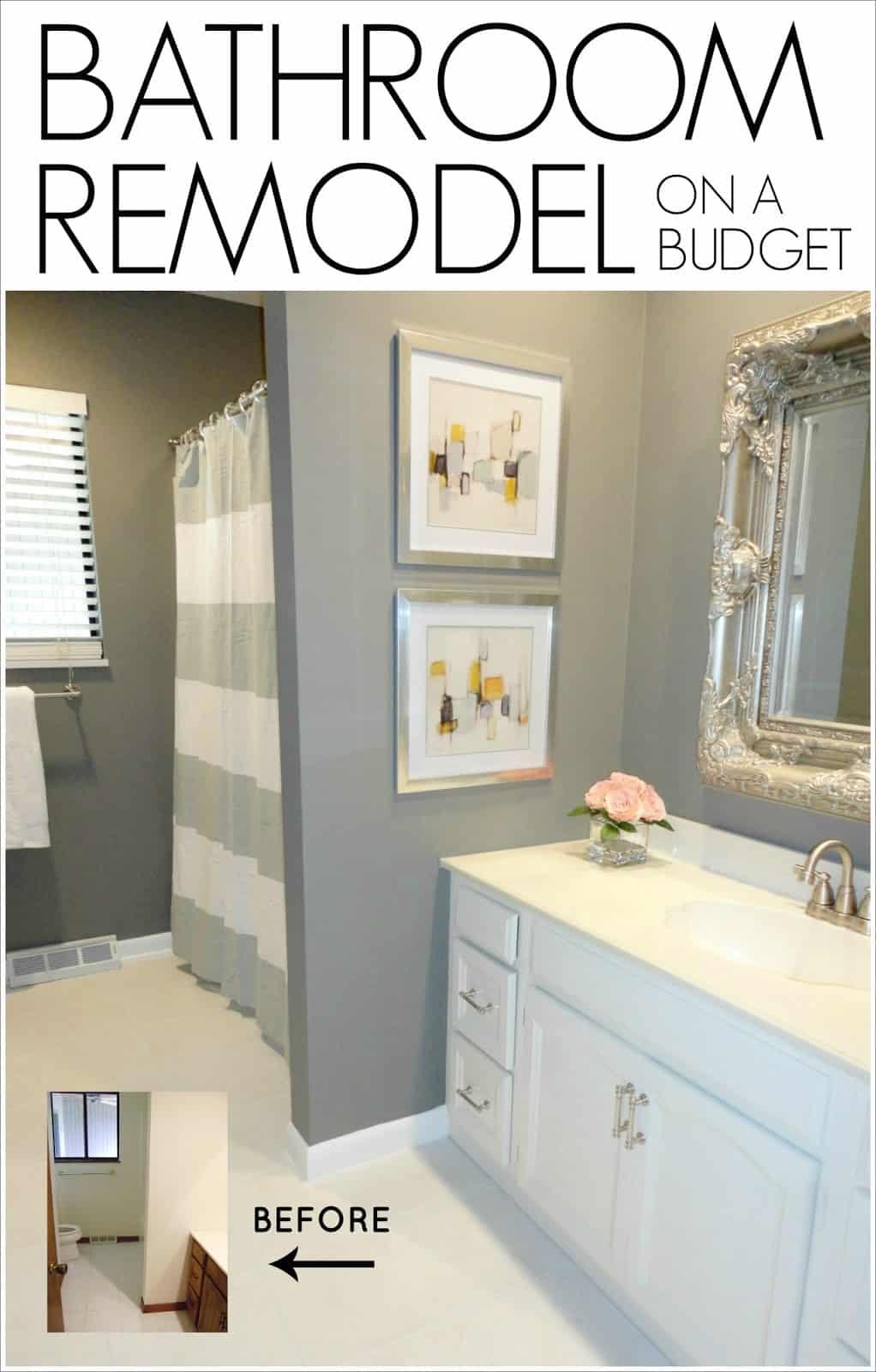 Simple silvers bathroom remodel