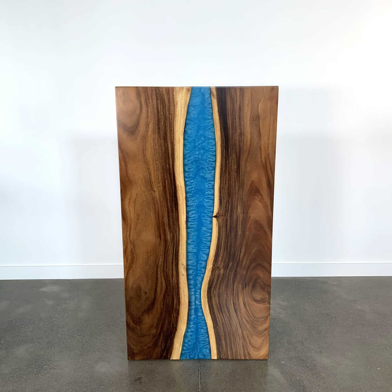 south american walnut river table