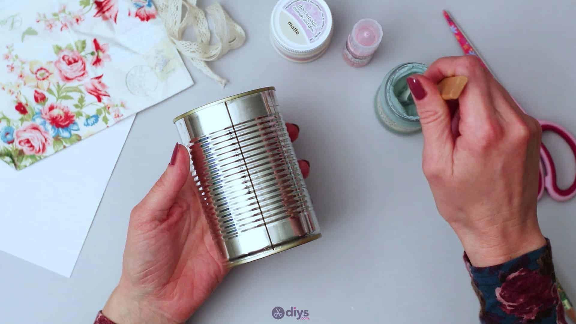 Vintage rose tin can step 2