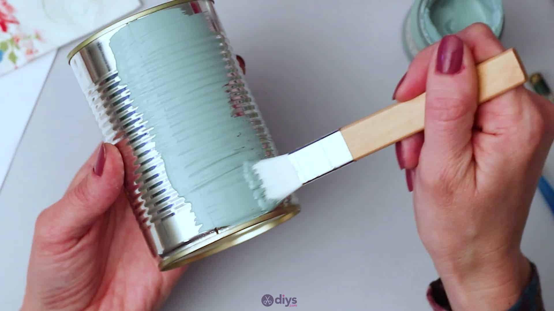 Vintage rose tin can step 2b