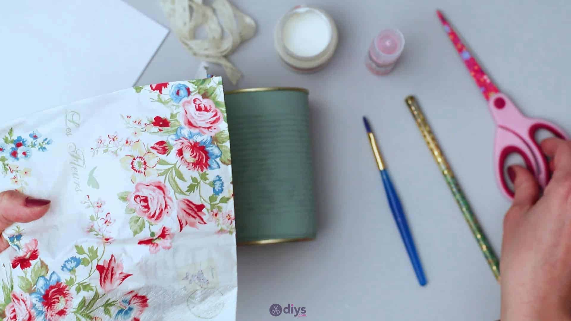 Vintage rose tin can step 3