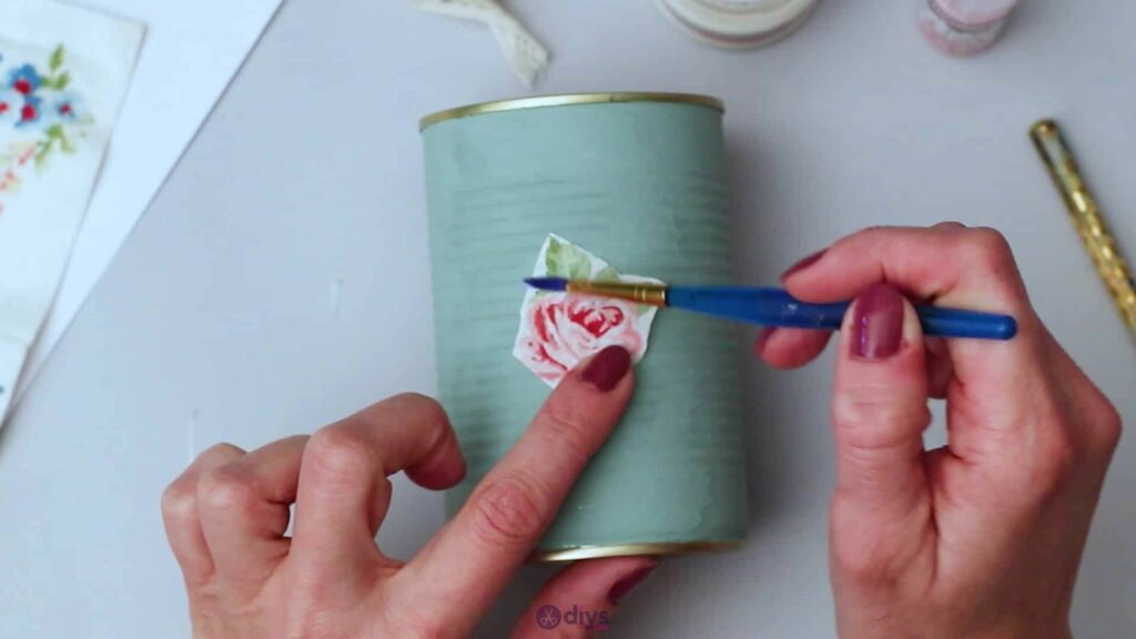 Vintage rose tin can step 4b