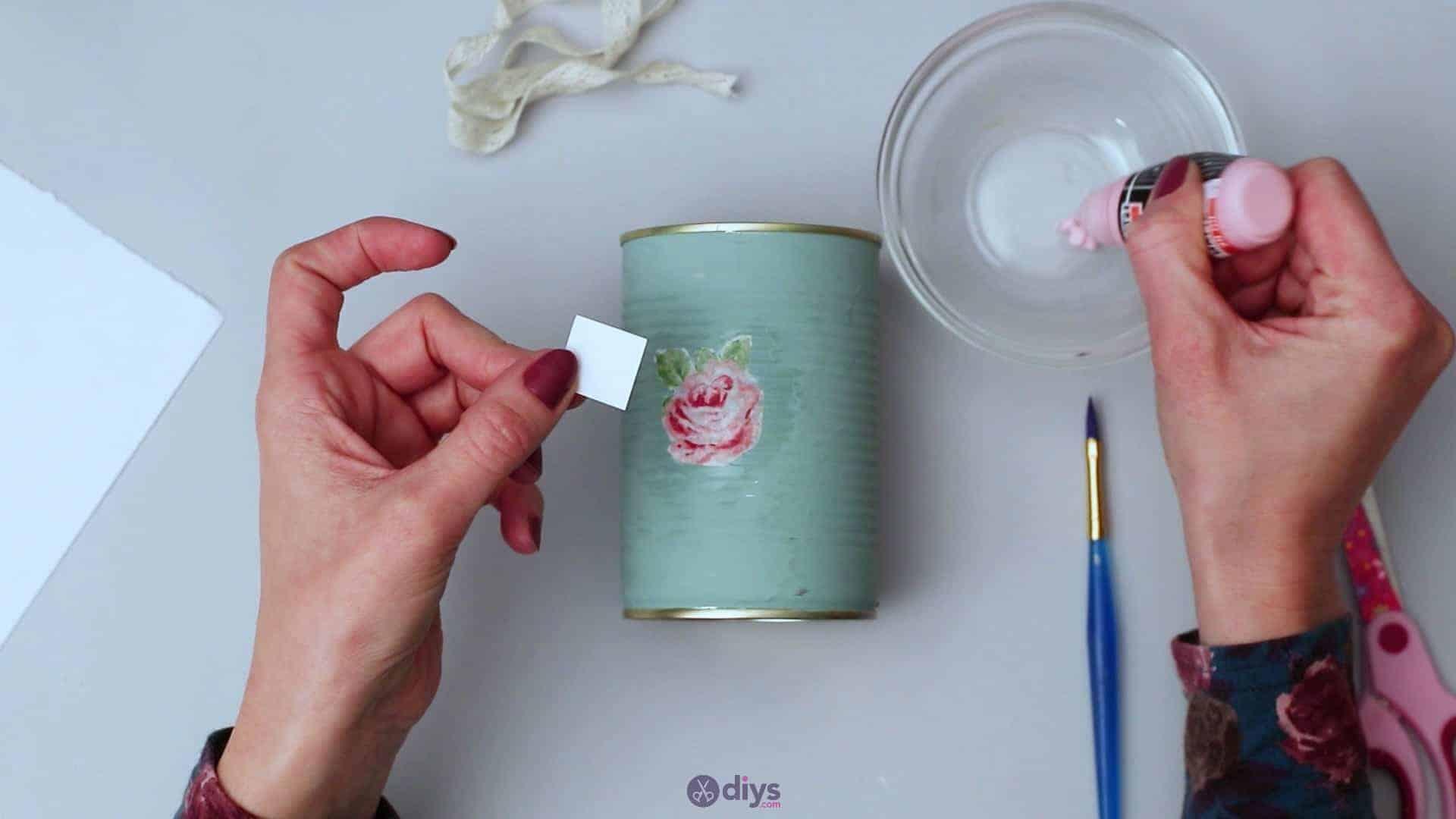 Vintage rose tin can step 5b