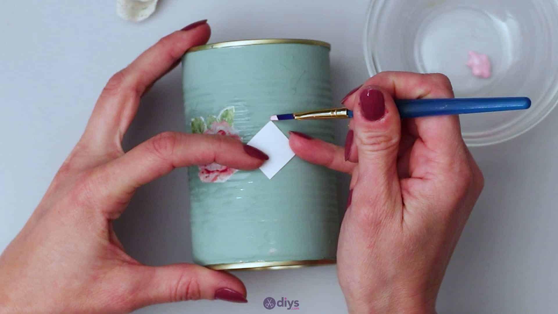Vintage rose tin can step 5c