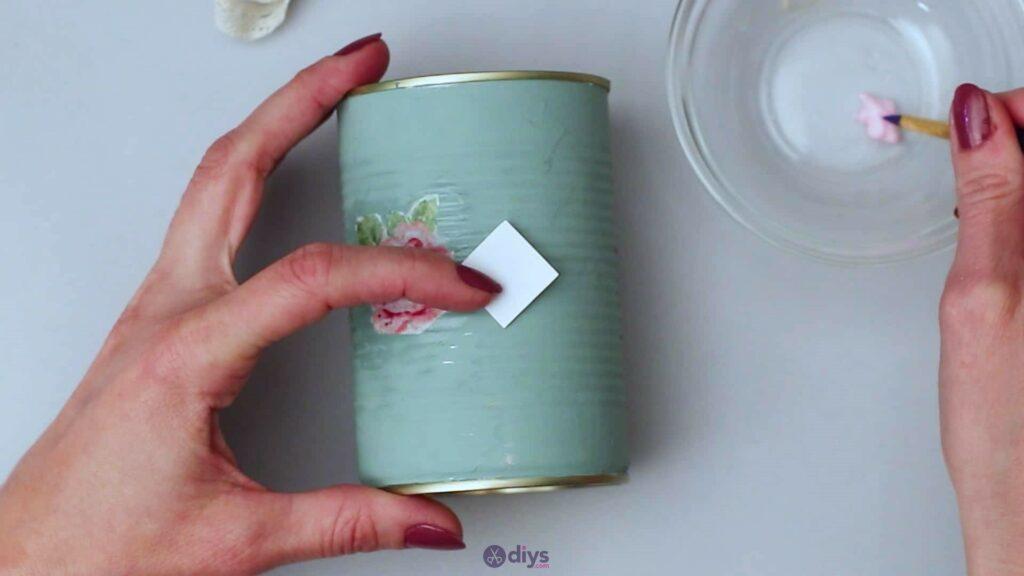 Vintage rose tin can step 5d