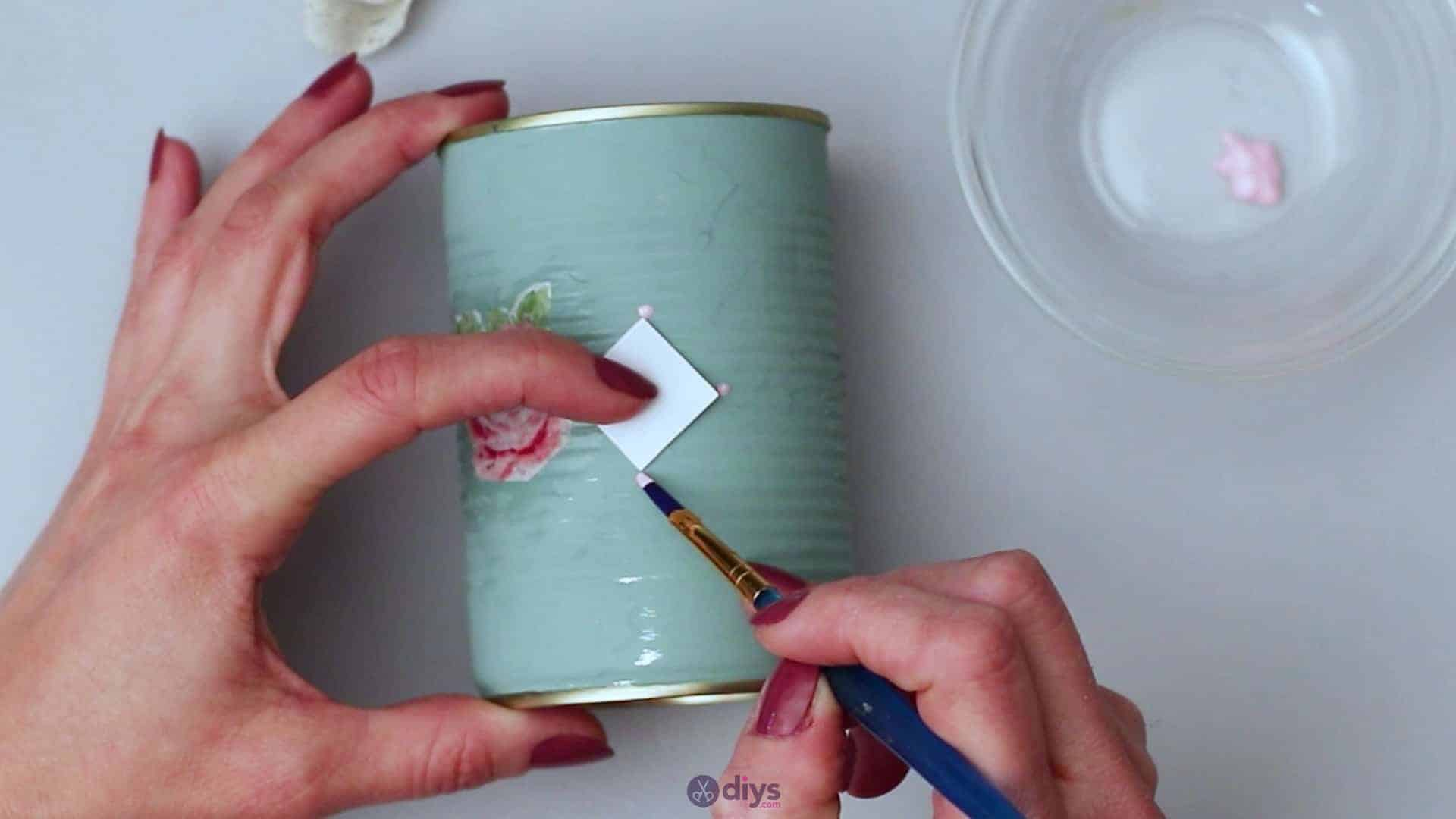 Vintage rose tin can step 5e