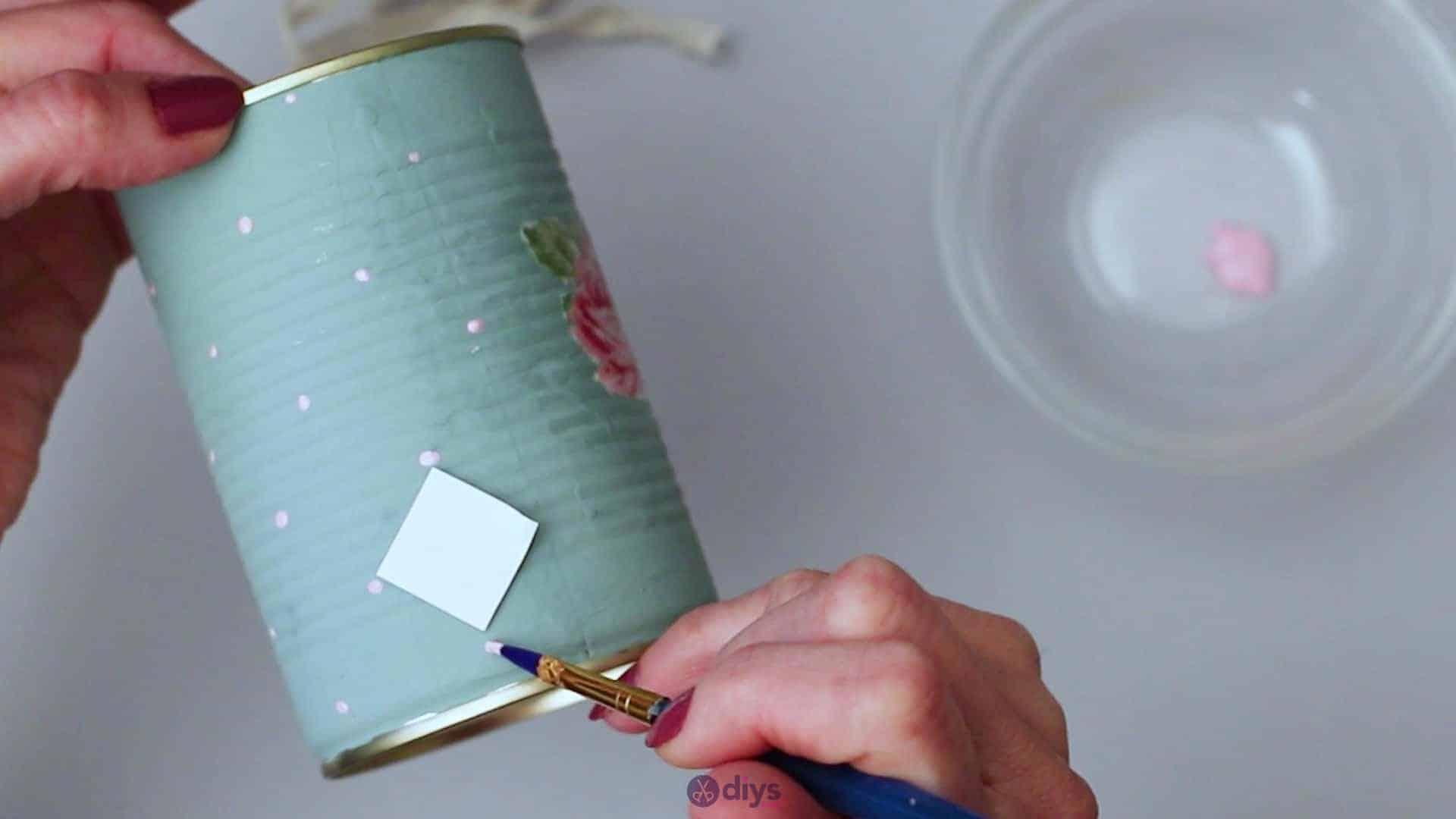 Vintage rose tin can step 5i