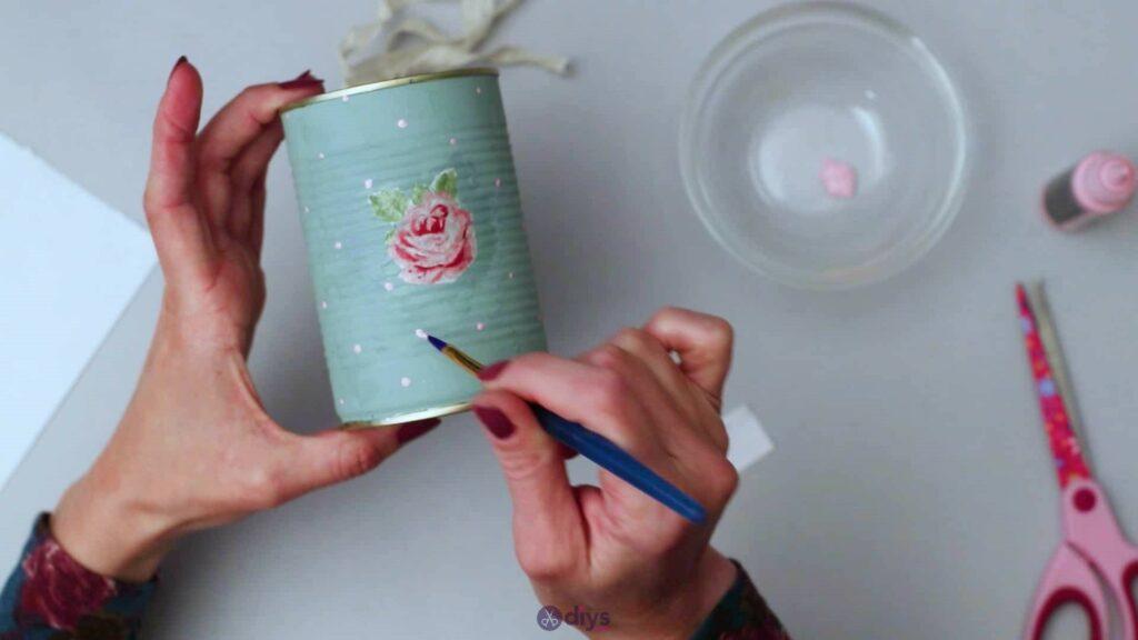 Vintage rose tin can step 5j