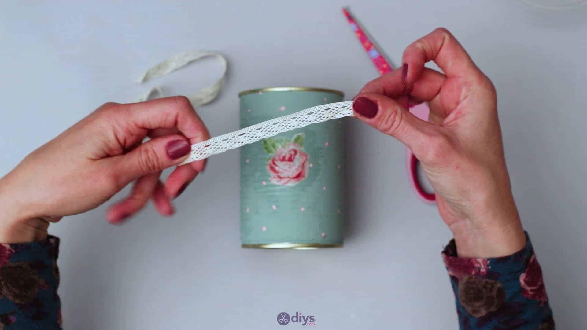 Vintage rose tin can step 6