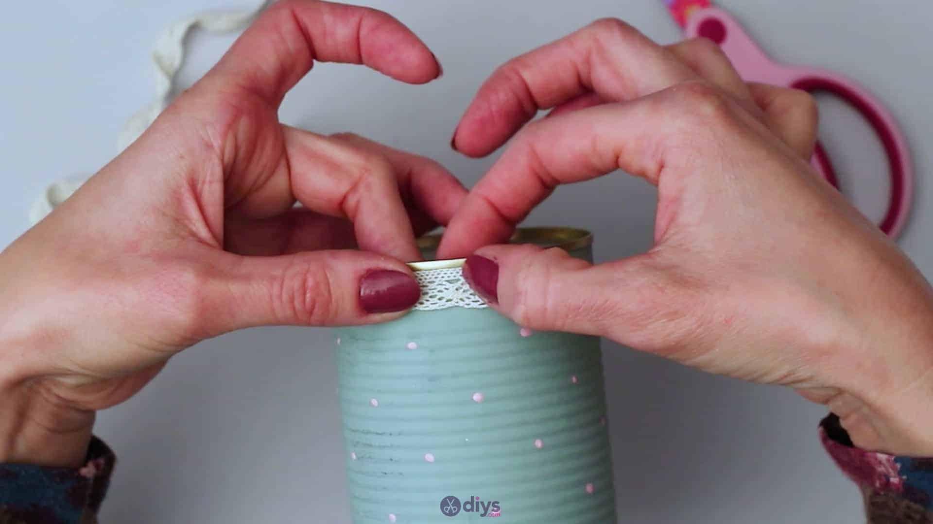Vintage rose tin can step 6b