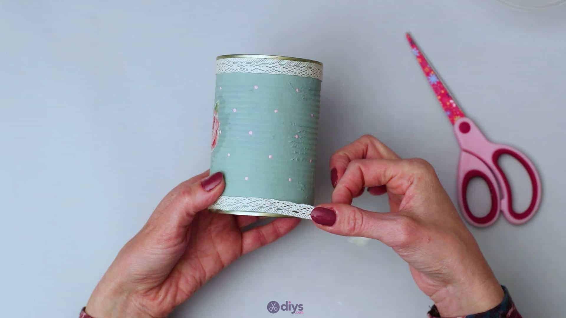 Vintage rose tin can step 7b