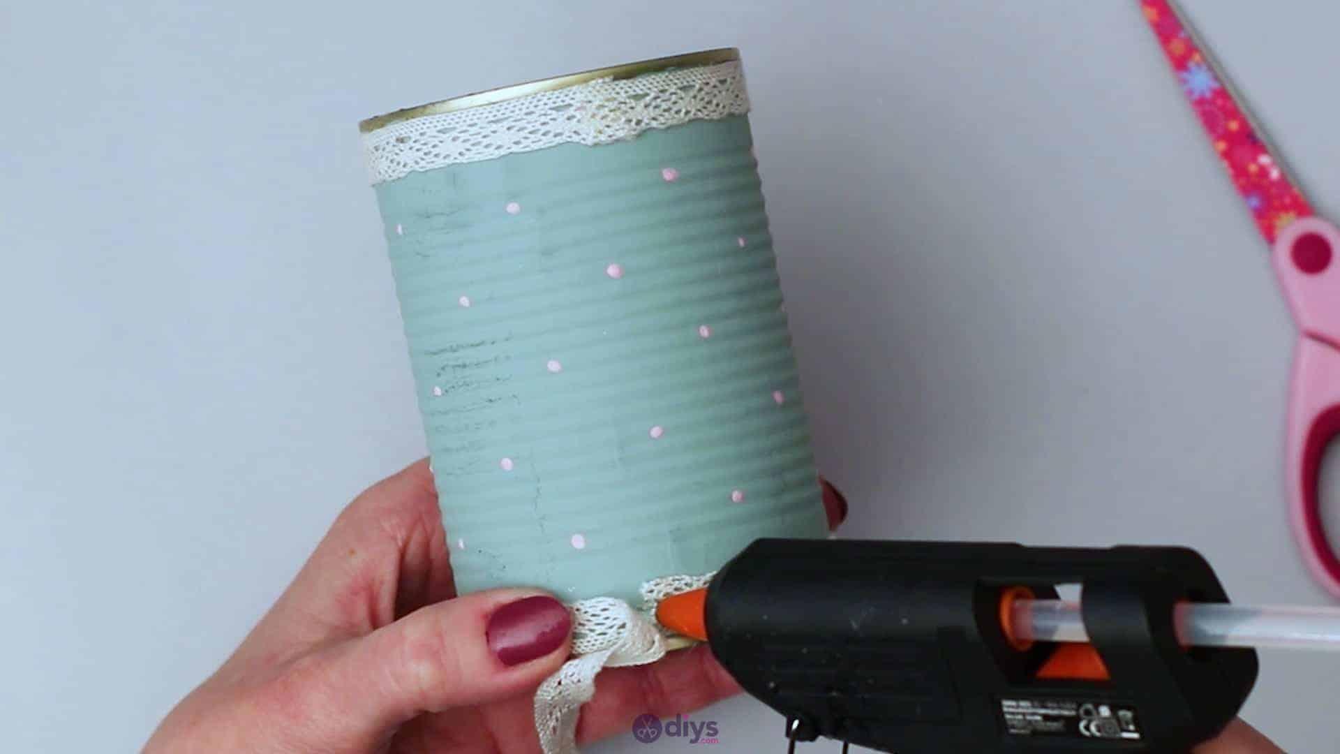 Vintage rose tin can step 7c