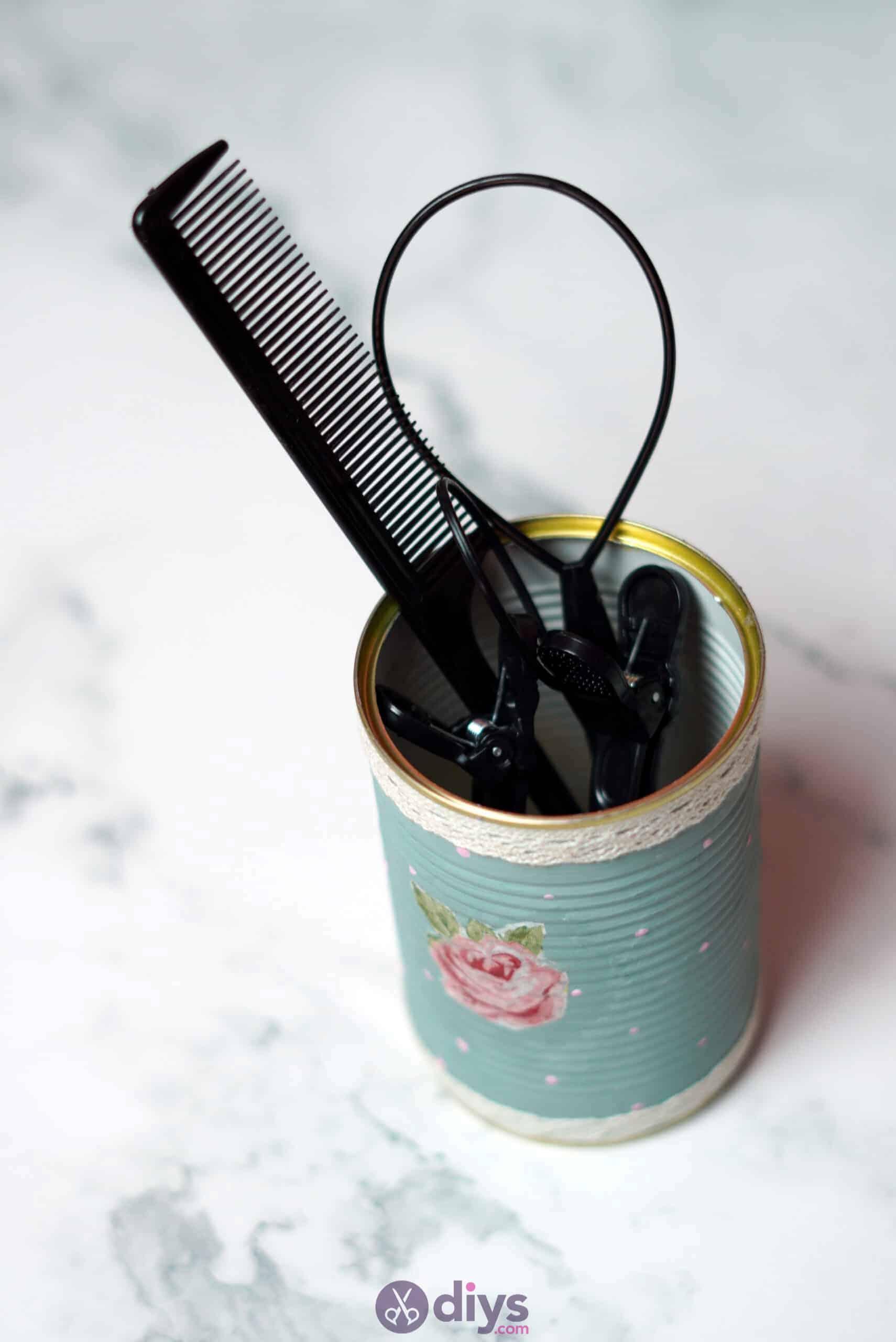Vintage rose tin can