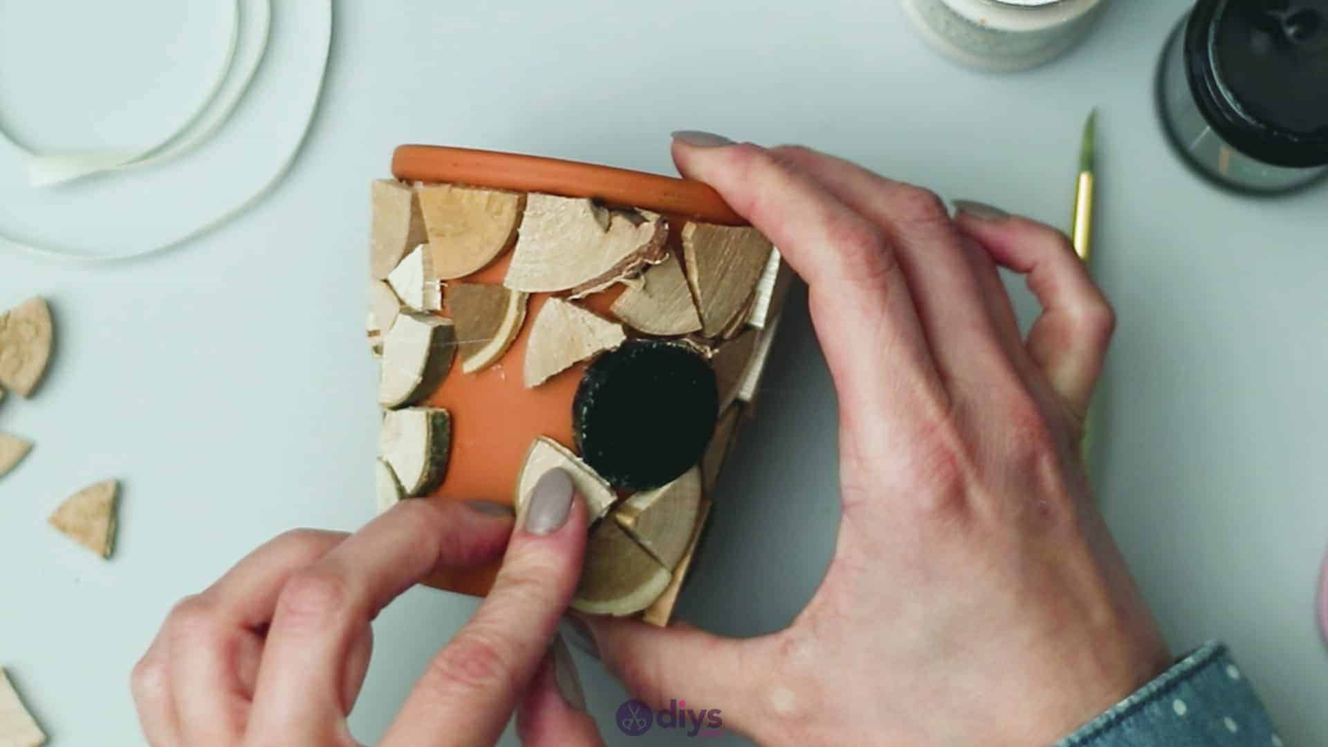 Wood slice plastic planter update step 5g