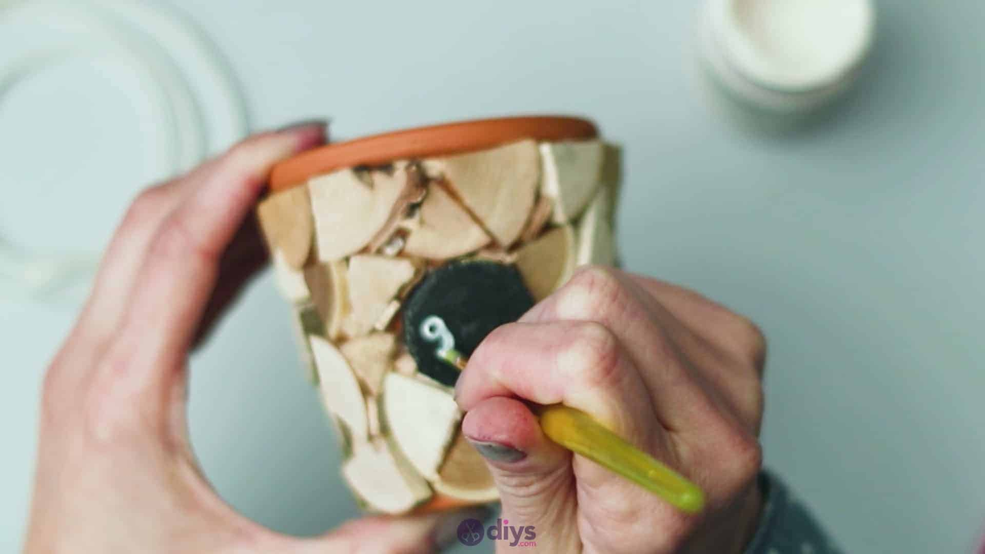 Wood slice plastic planter update step 6