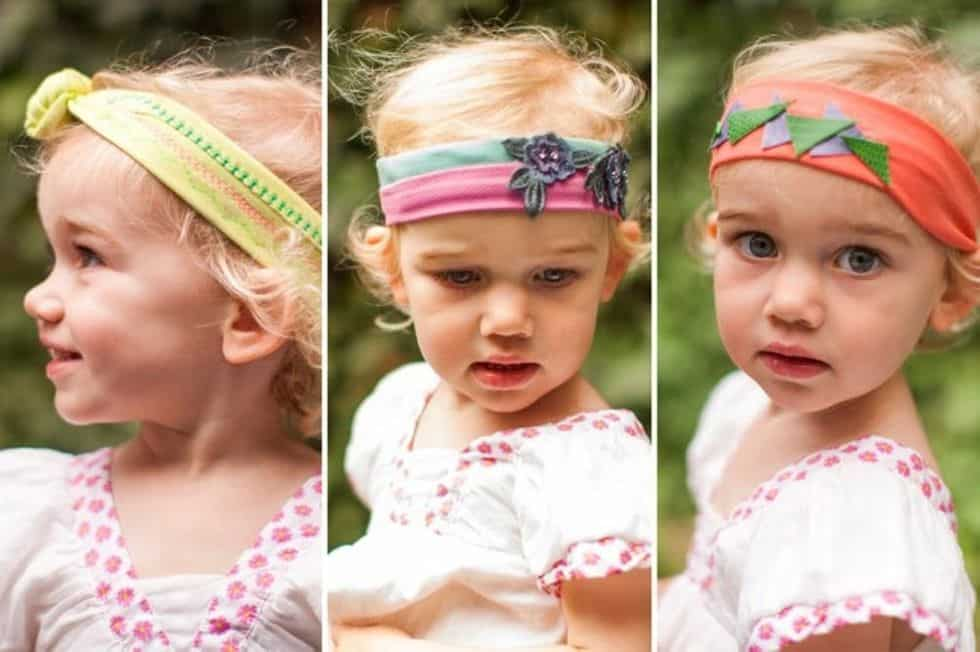 Baby headbands sewing project