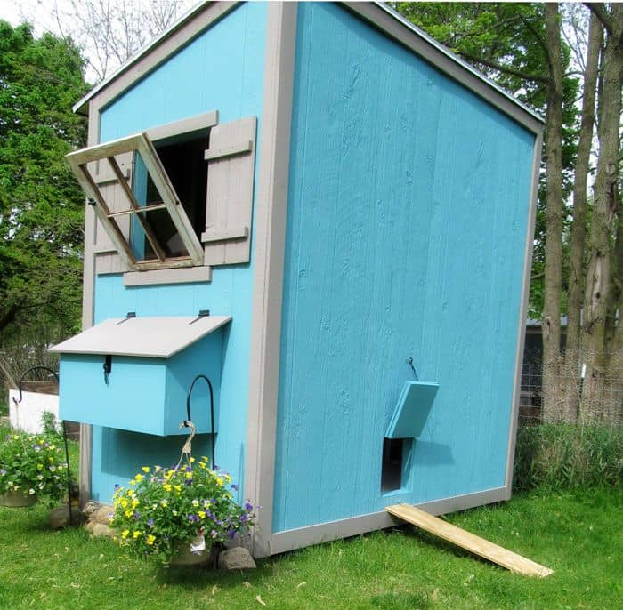 Basic shed chicken coop plan