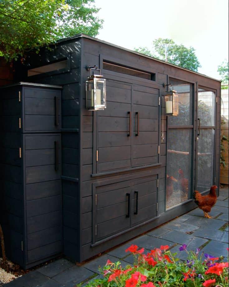 Chicest black chicken coop
