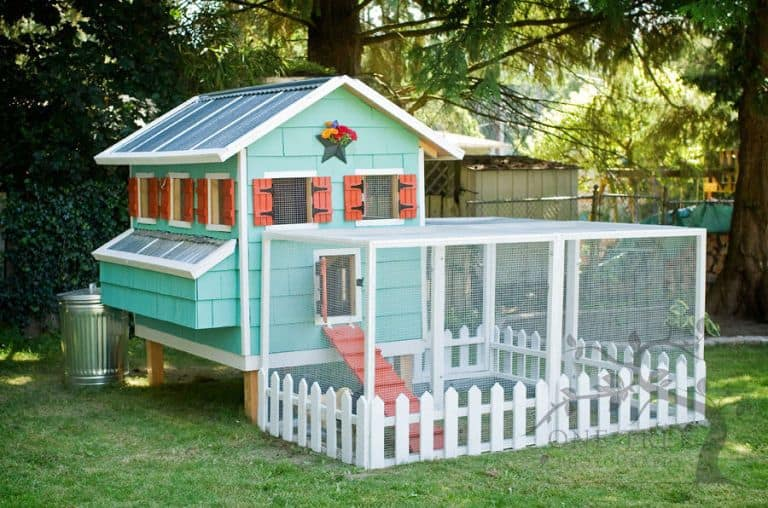 Colorful and homey chicken coop