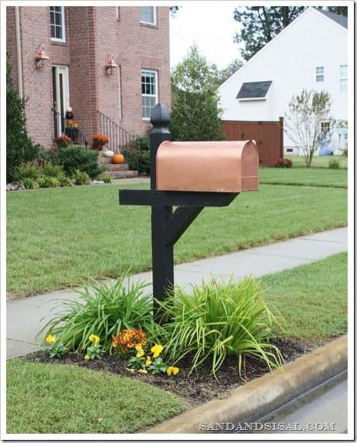 Copper diy mailbox