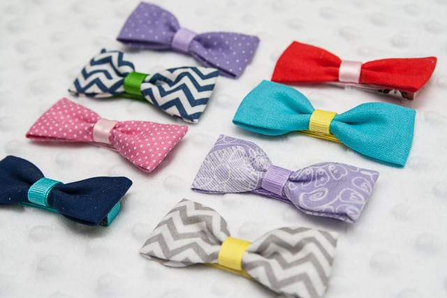 Diy fabric bow ties
