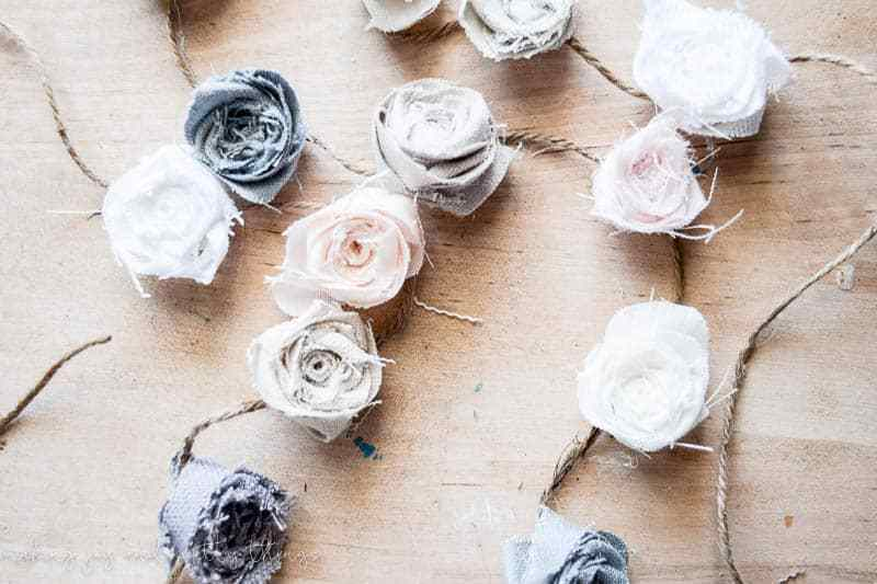 Diy fabric flower garland