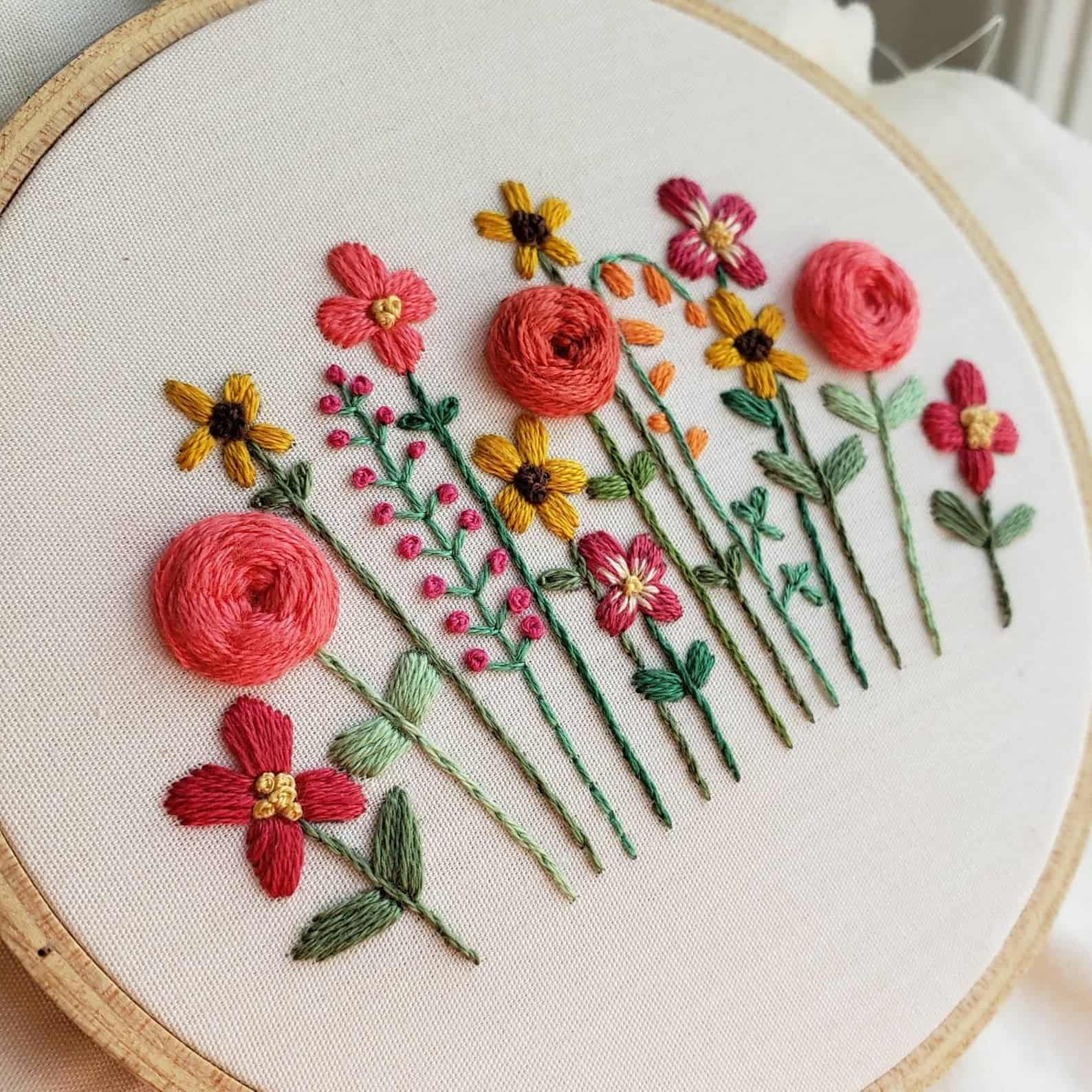 13 floral embroidery patterns to inspire your spring