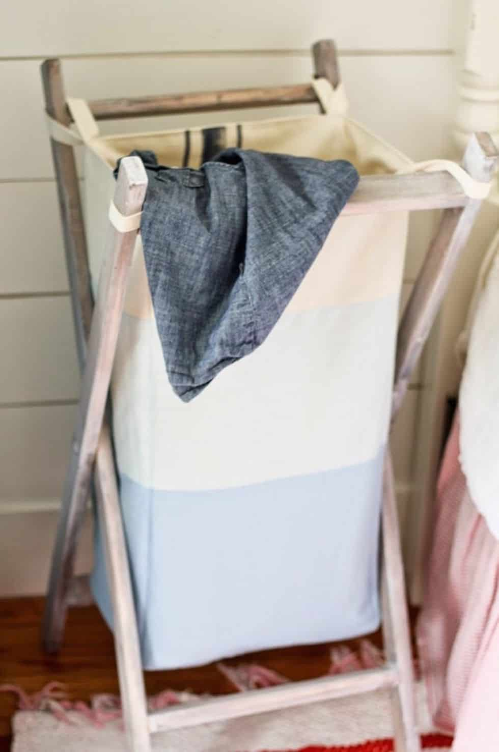 Diy laundry hamper sewing hack