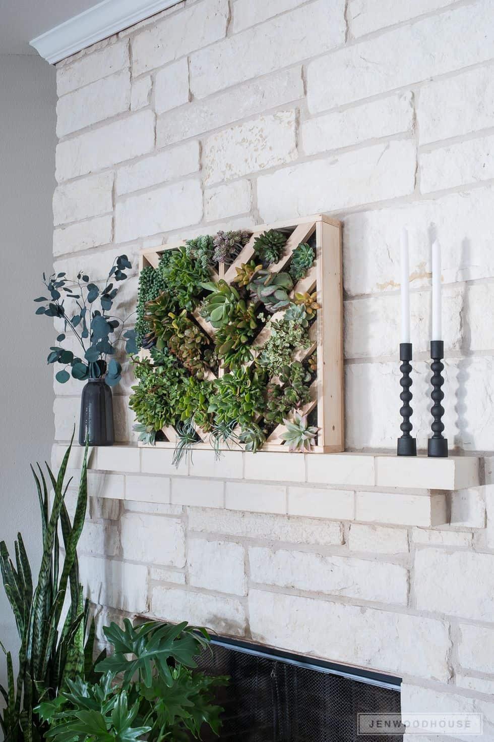 Diy succulent vertical garden