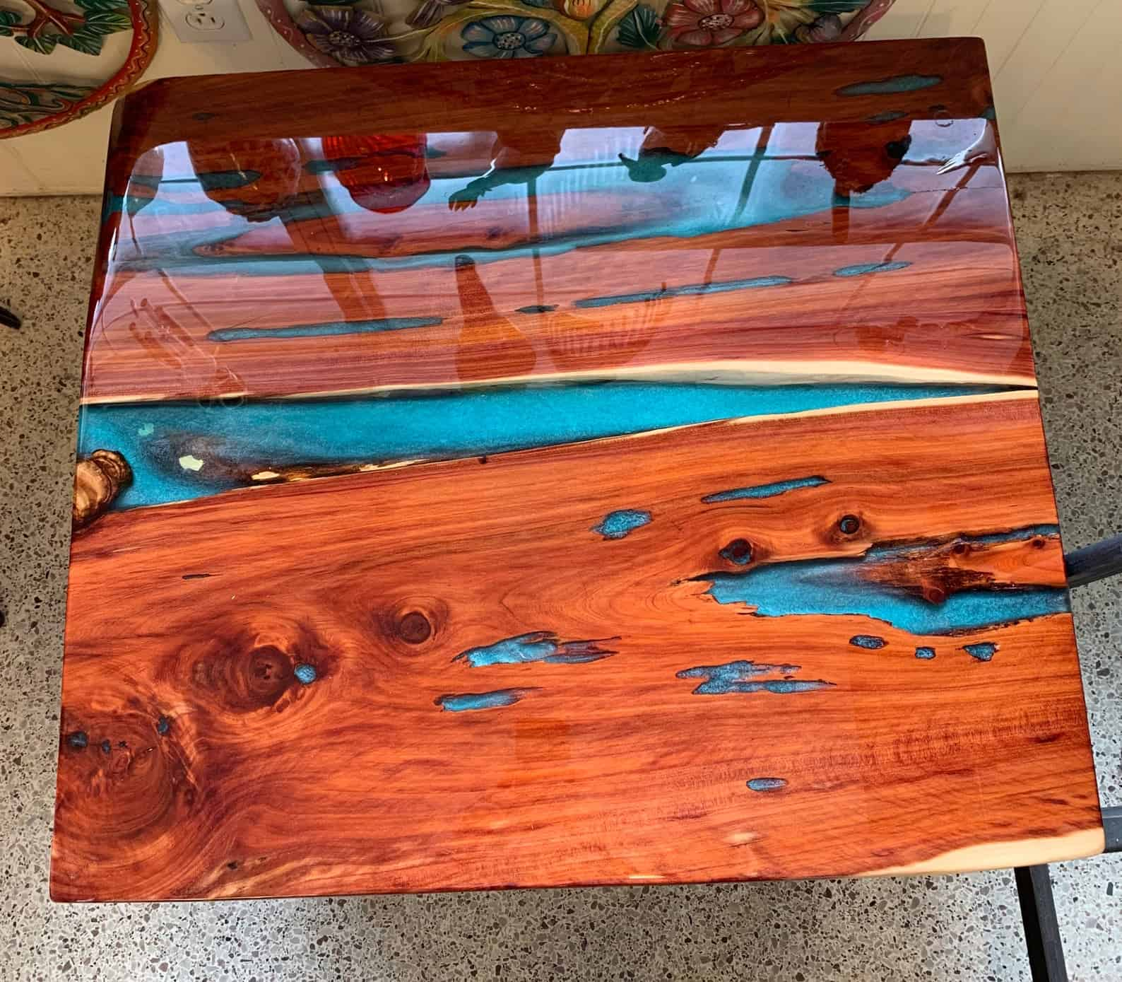 Epoxy coffee or dining table