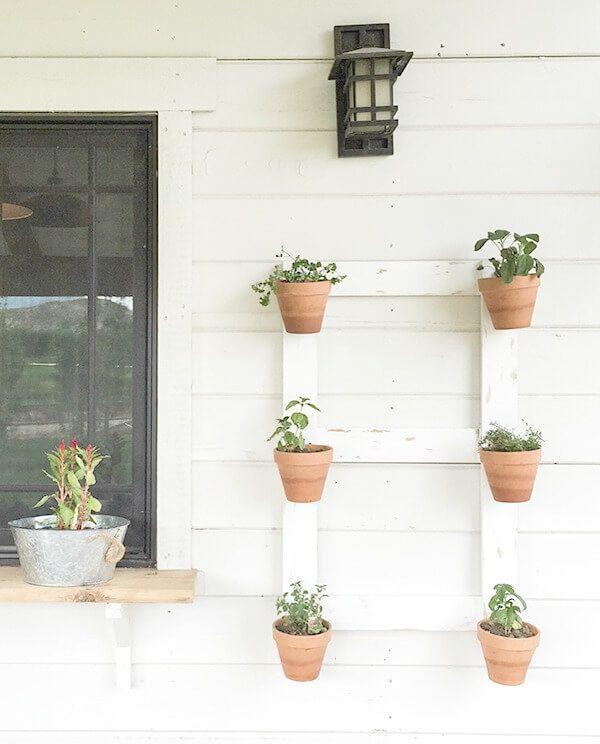 Farmhouse style vertical garden