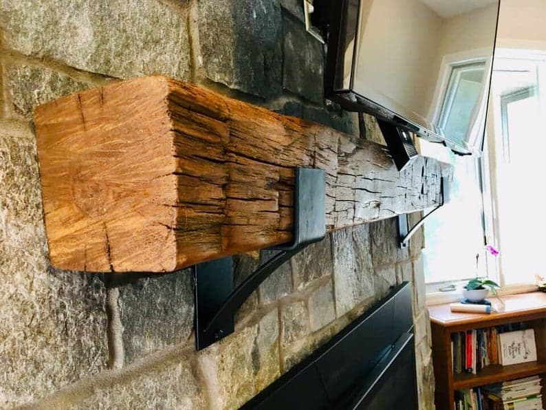 Fireplace mantle supports