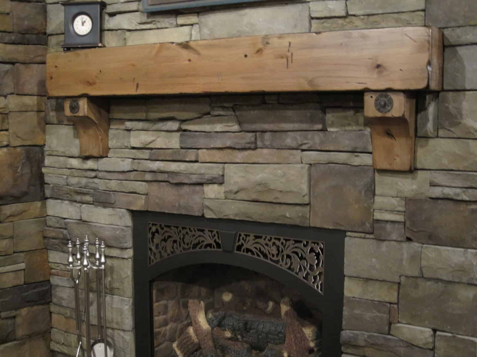 Fireplace mantle with corbels