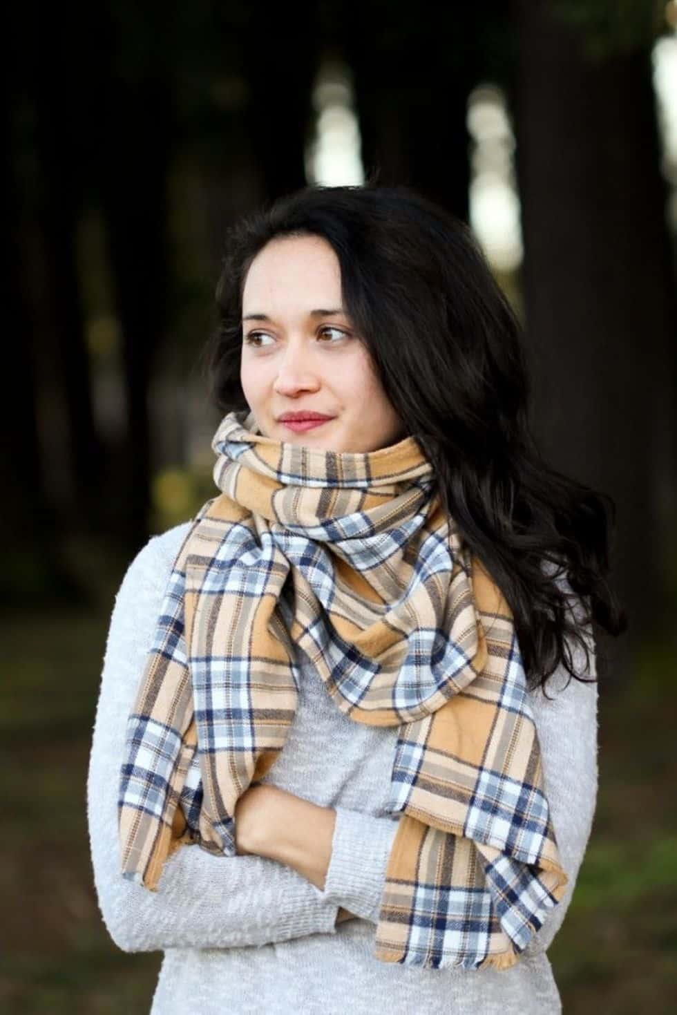 Flannel scarf sewing hack