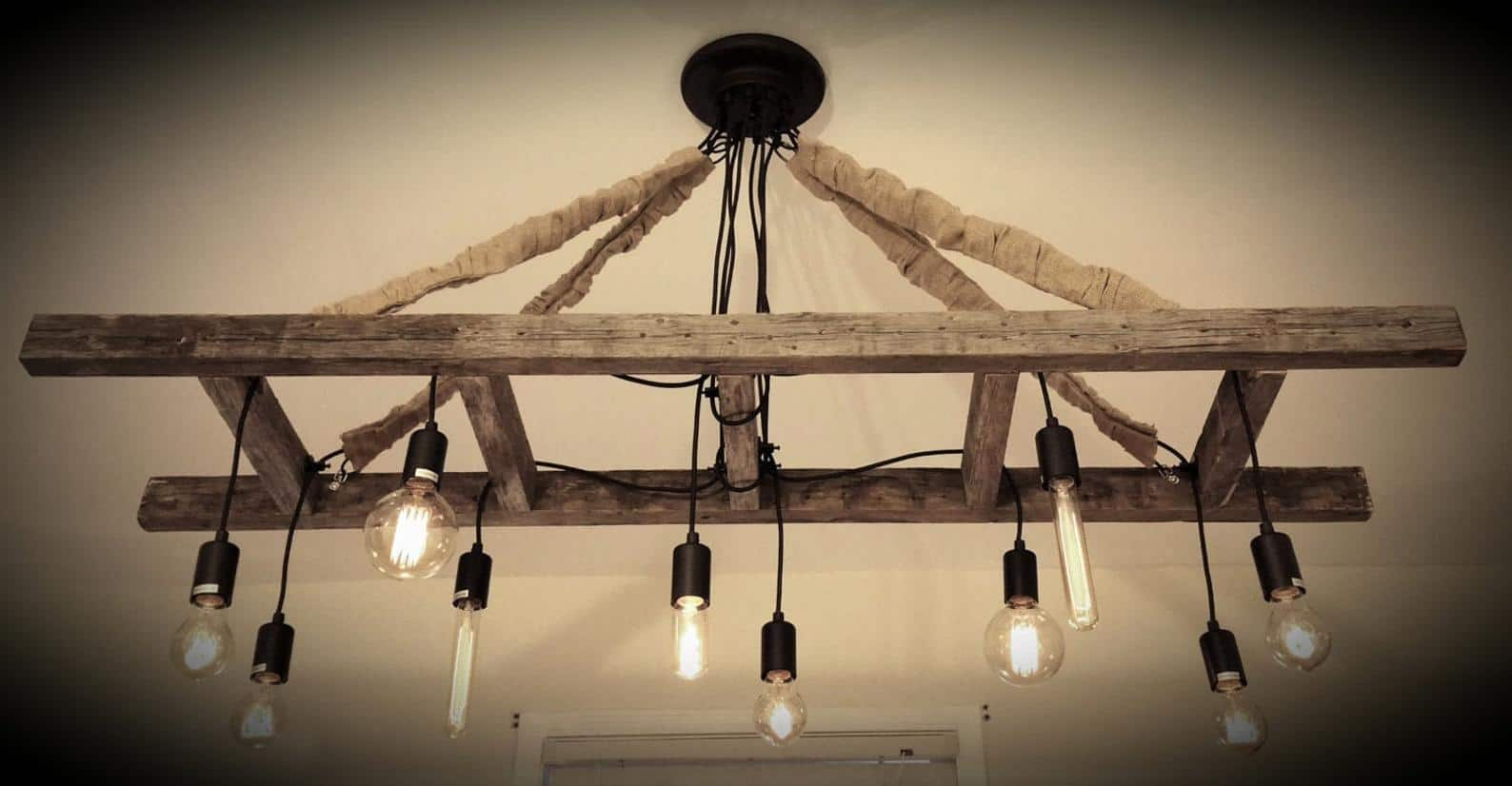 Ladder chandelier