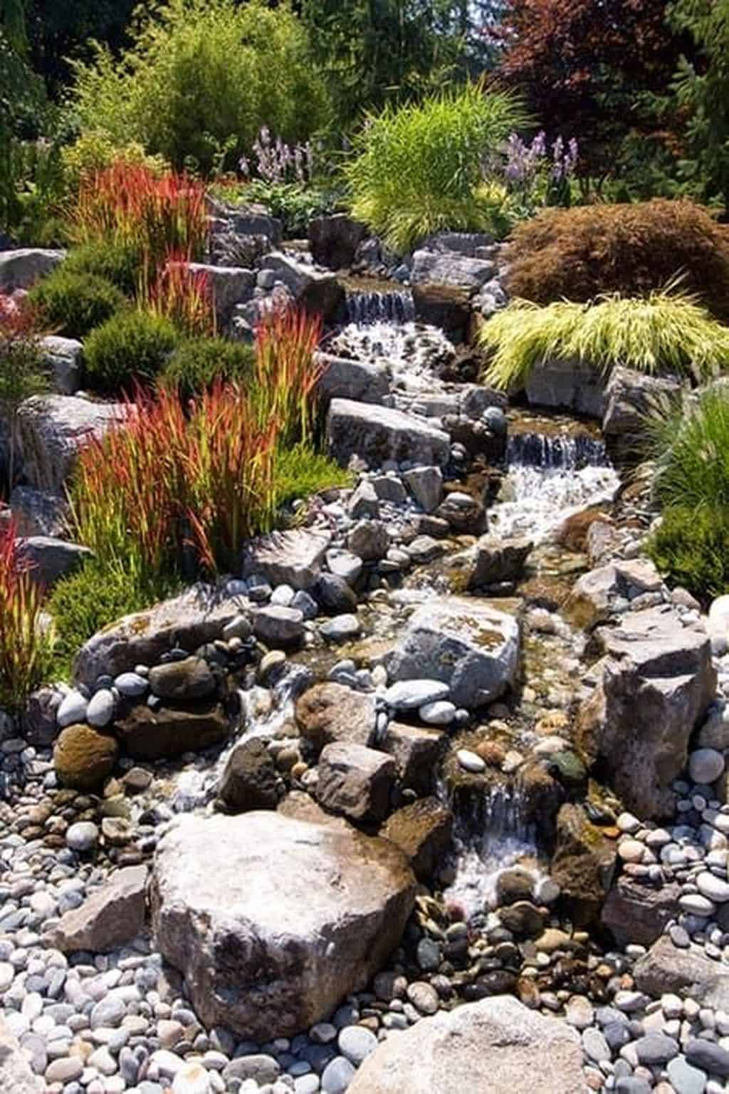 Natural rock garden diy