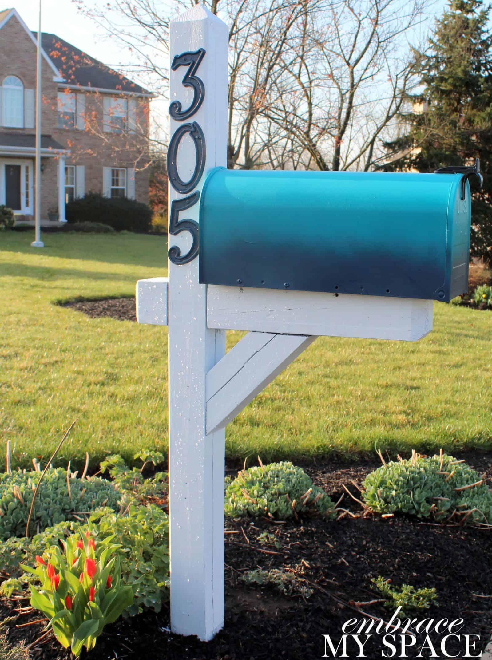 Ombre diy mailbox