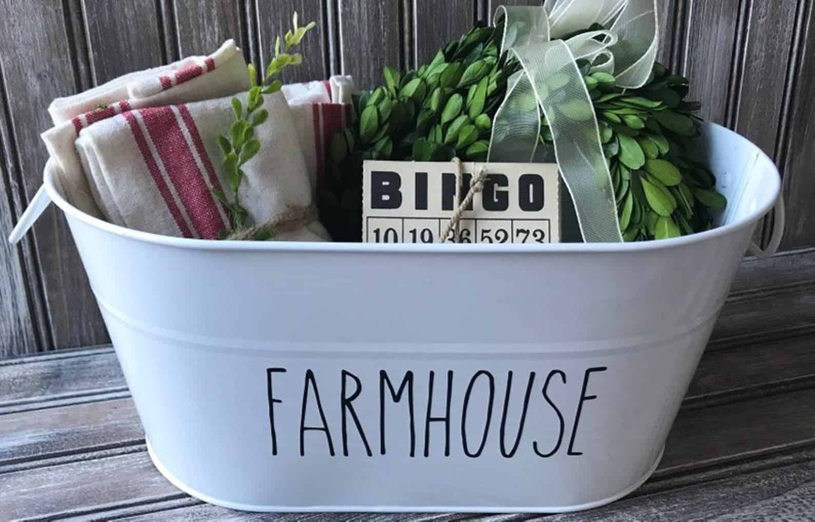 Personalized farmhouse tin
