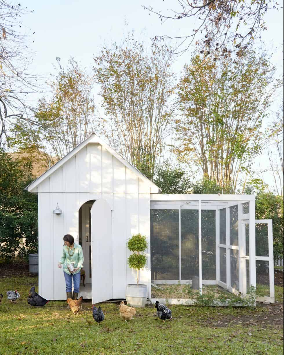 Pretty and simple chicken coop