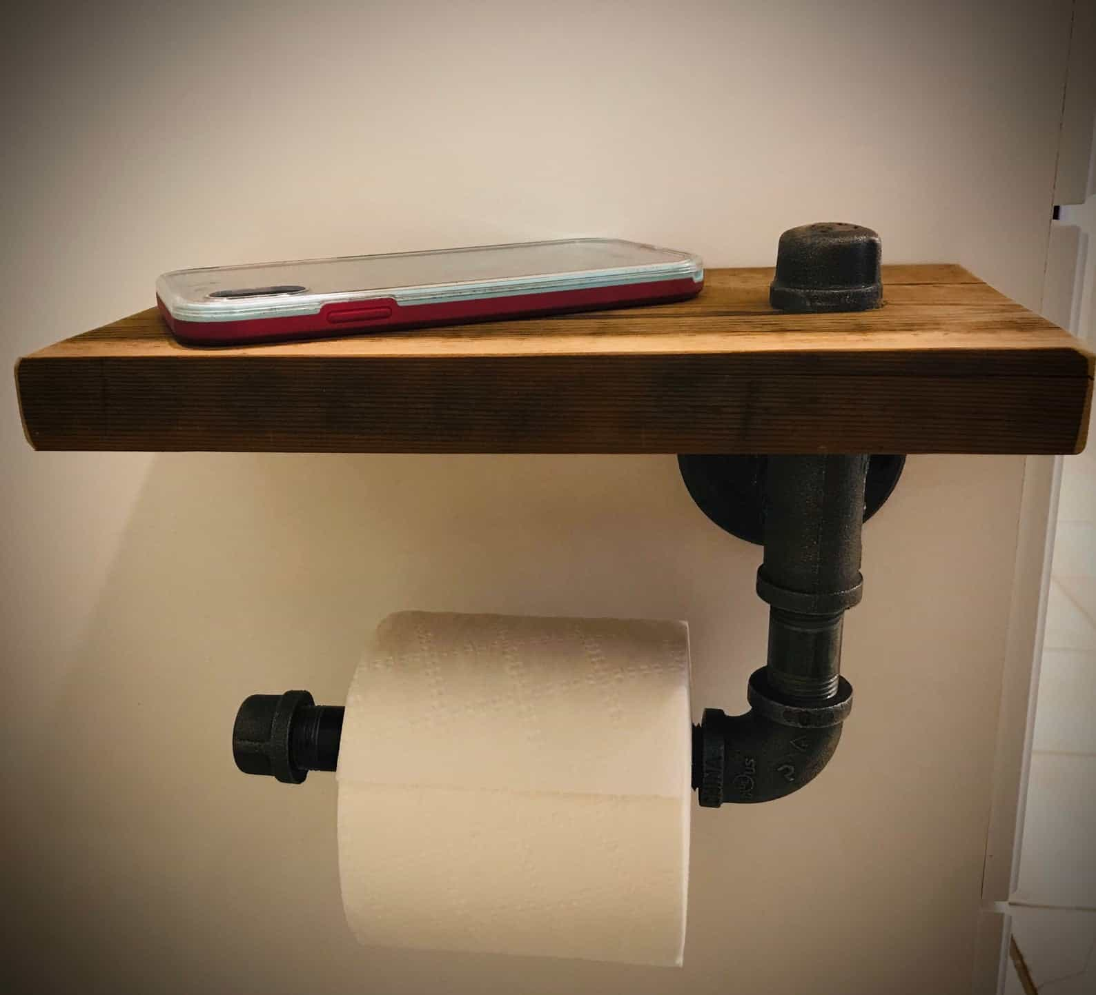 Rustic toilet paper holder