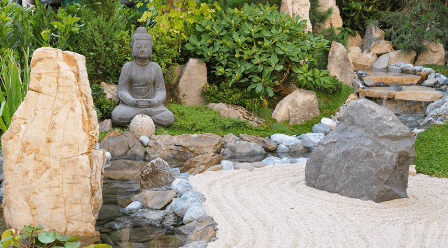 Zen rock garden idea