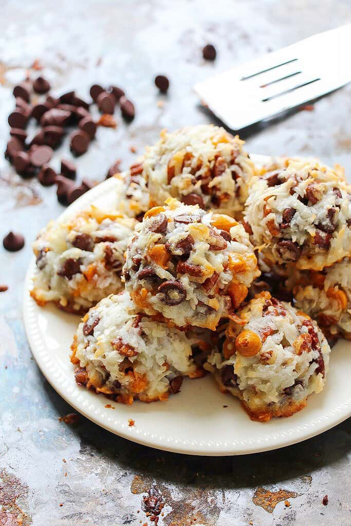 7 layer bar coconut macaroons