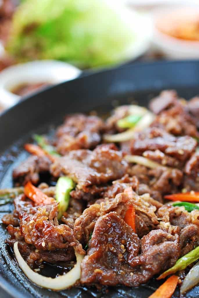 Bulgogi, or korean bbq beef