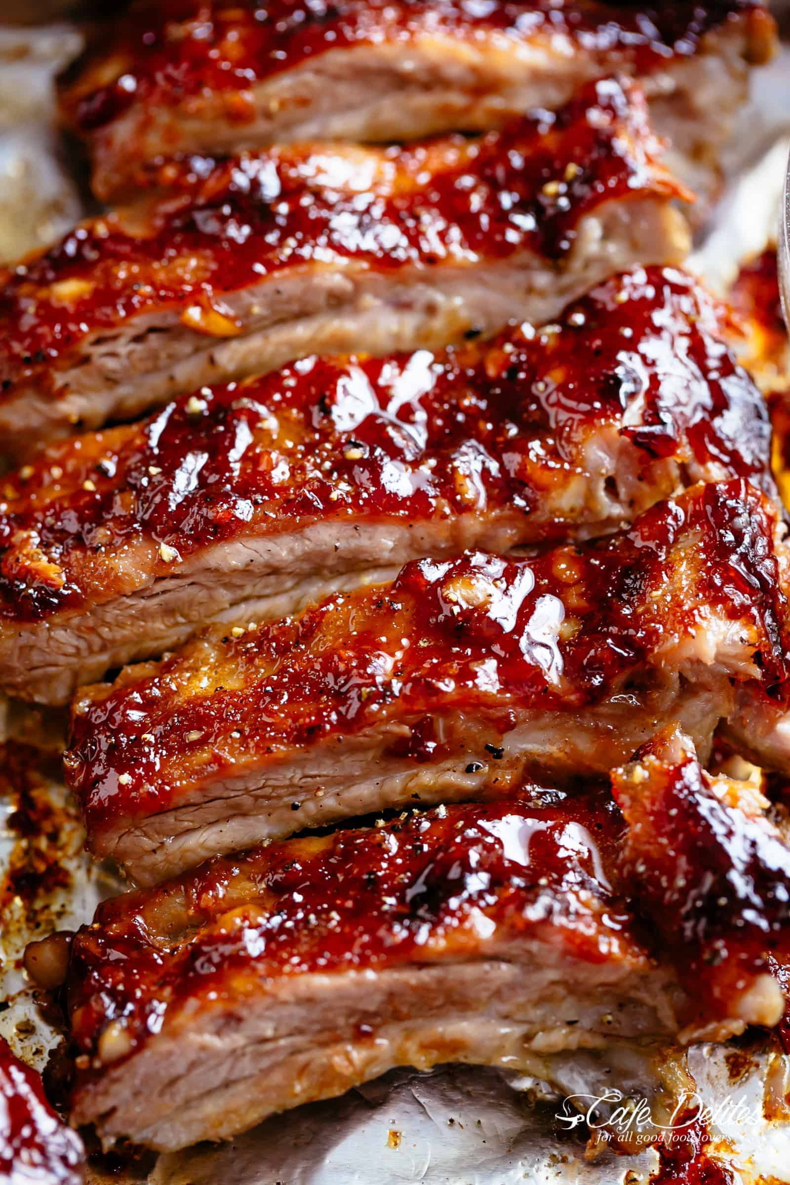 Deliciously sticky over bbq ribs