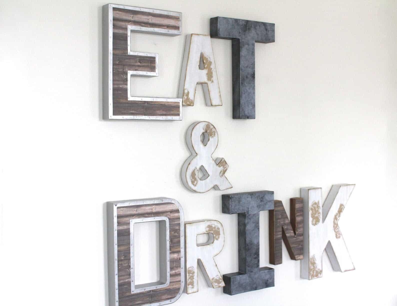 Eat & drink industrial sign