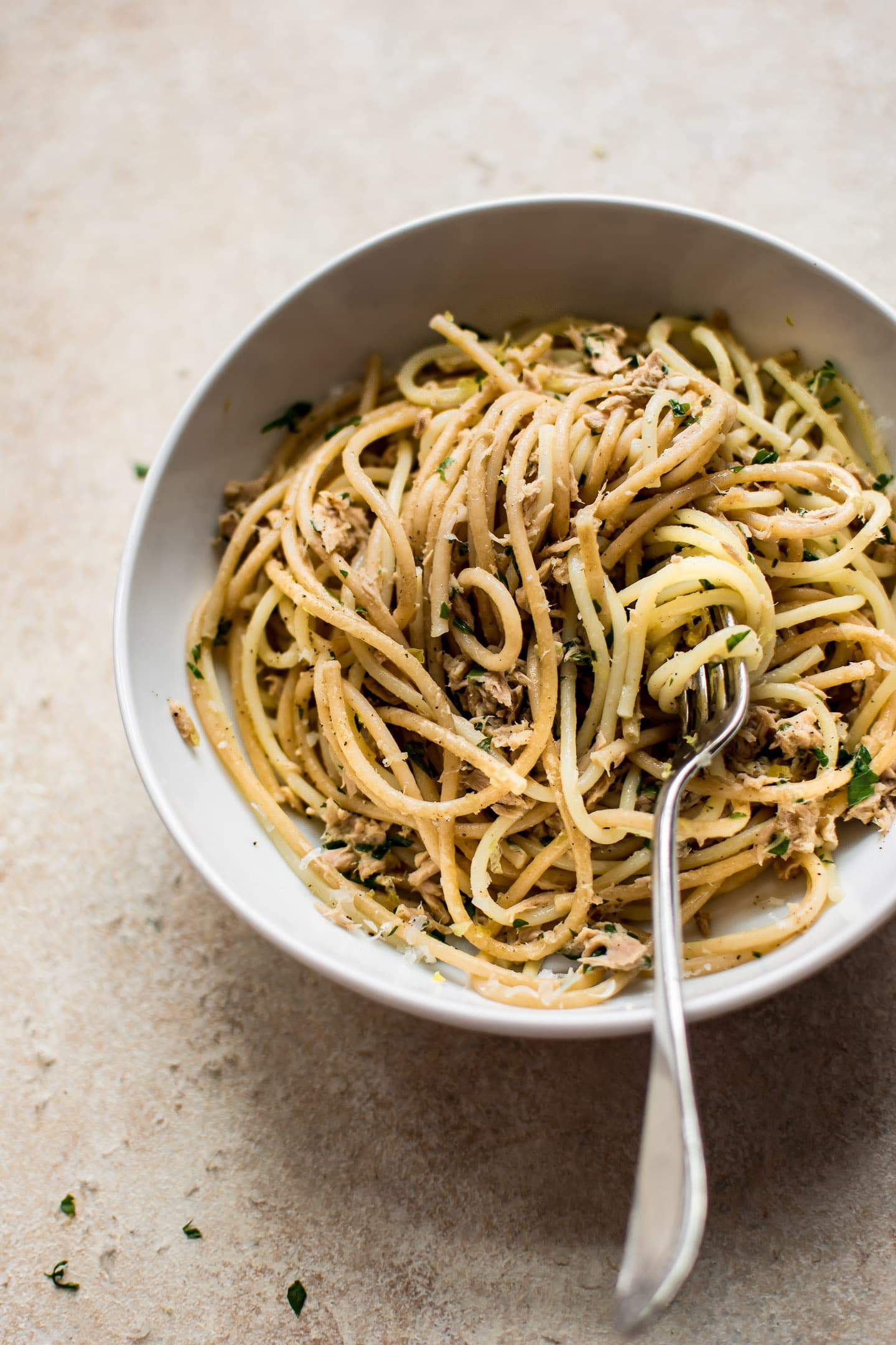 Fast and easy canned tuna pasta