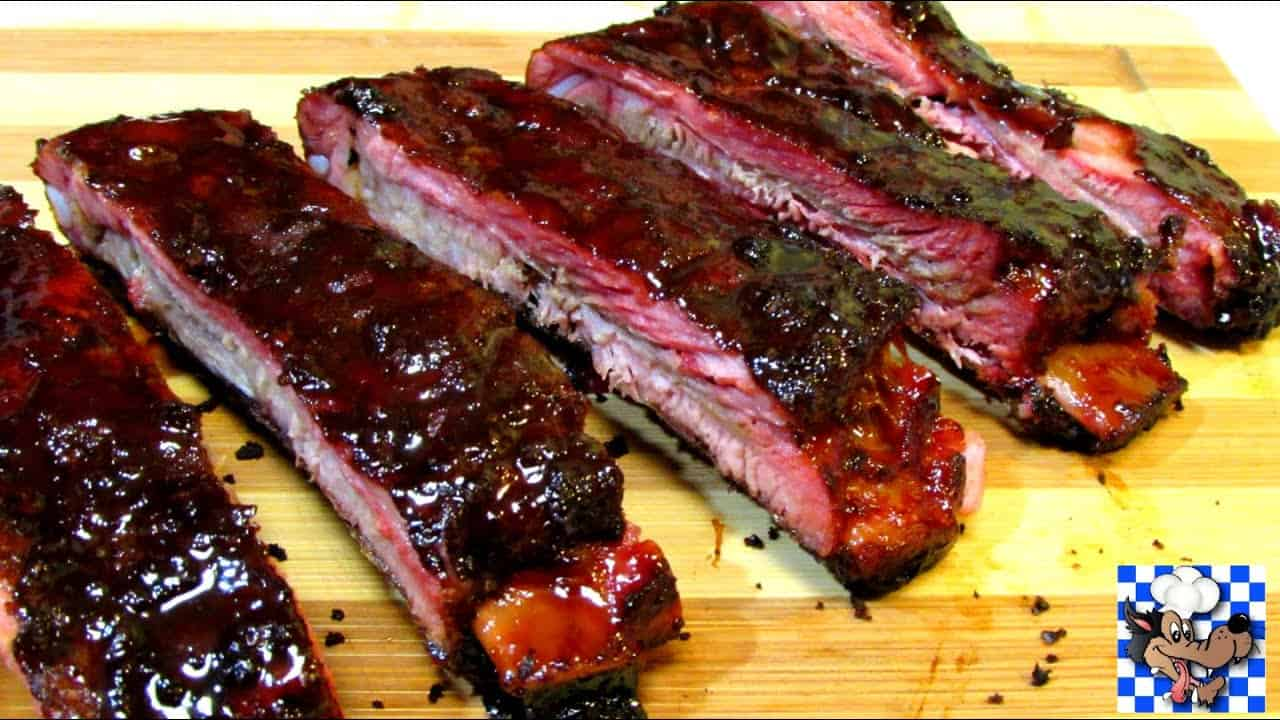 Five spice spare ribs with hoisin honey glaze