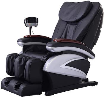 Full body electric shiatsu massage chair recliner with built in heat therapy